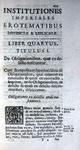 Antonius Perezius - Institutiones imperiales, erotematibus distinctae - Venetiis 1706