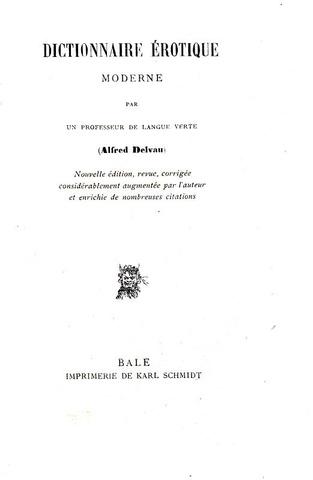 Rarità bibliografica: Delvau - Dictionnaire érotique moderne - 1879 (rara edizione fuori commercio)
