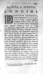 Cassius Longinus - De sublimitate commentarius - Amsterdam 1733
