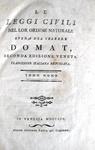 Domat - Le leggi civili nel lor ordine naturale - 1802