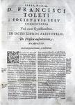 Toledo - Commentaria in octo libros Aristotelis de physica - 1573