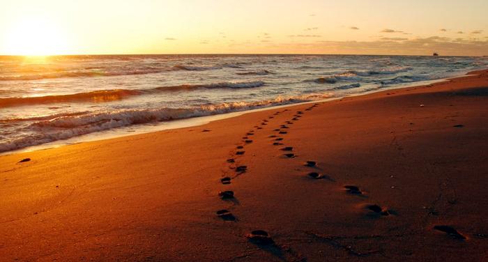 Orme sulla sabbia (anonimo brasiliano)
