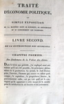 Jean Baptiste Say - Traite d'economie politique - 1814