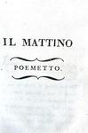 Parini - Il Giorno (Il Mattino, il Mezzo giorno, il Vespro e la Notte) - 1803 (bellissima legatura)
