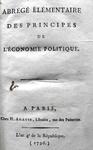 Germain Garnier - Principes de l'economie politique - 1796
