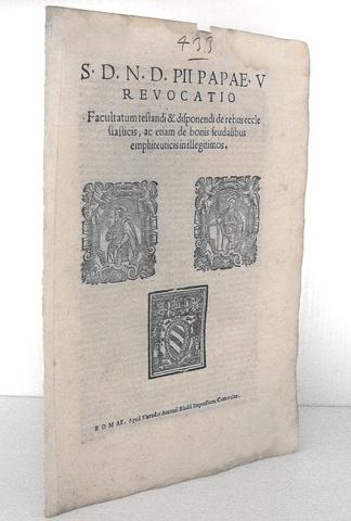 Bolla di Pio V in materia testamentaria
