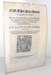 Bolla di Pio V che disciplina il voto di obbedienza negli ordini secolari - Roma, Blado 1567