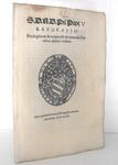 Bolla di Pio V che disciplina la revoca di privilegi e immunità ecclesiatiche - Roma, Blado 1568
