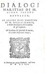 La navigazione nel '500: Bottazzo - Dialogi maritimi - 1547 (prima edizione - legatura alle armi)