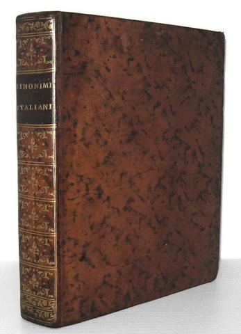 Carlo Costanzo Rabbi - Sinonimi ed aggiunti italiani - 1751