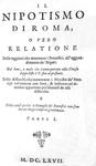 La corruzione in Vaticano: Gregorio Leti - Il nipotismo di Roma - Elzevier 1667 (prima edizione)