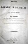 Jean Baptiste Victor Proudhon - Traite du domain