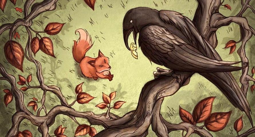 Esopo - Il corvo e la volpe