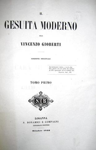 Vincenzo Gioberti - Il gesuita moderno