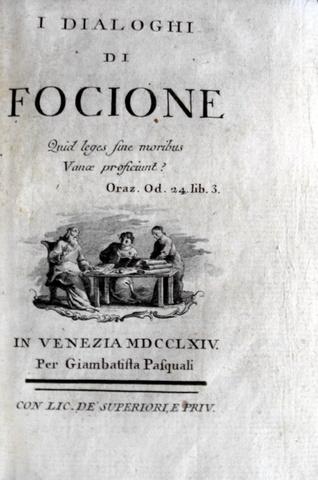 Mably - I dialoghi di Focione - 1764