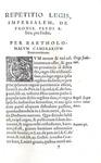 Il diritto feudale nel Cinquecento: Camerarius - Repetitio de prohibita feudi alienatione - 1566