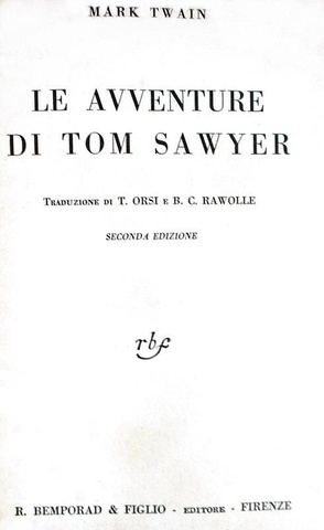 Mark Twain - Le avventure di Tom Sawyer - 1930 (con le belle illustrazioni di Attilio Mussino)