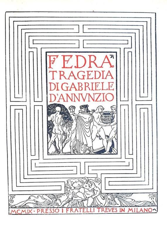 Gabriele D'Annunzio - Fedra. Tragedia - 1909/1927 (legatura di lusso e illustrazioni di De Carolis)