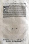 Moto proprio di Pio V che disciplina il ricorso nelle cause criminali - Roma, Blado 1566
