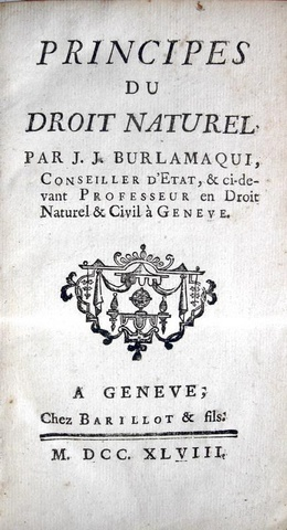 Burlamaqui - Principes du droit naturel - 1748