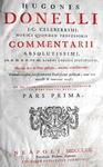 Hugues Doneau - Commentarii ad libros Codicis