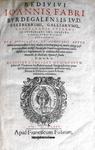 Joannes Faber - In Iustiniani Institutiones juris civilis commentarii - 1593
