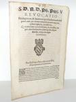 Bolla di Pio V che limita privilegi e benefici ecclesiastici - Roma, Blado 1570