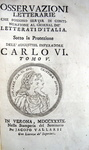 Osservazioni letterarie che possono servir di continuazione al Giornal de' Letterati d'Italia - 1737