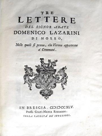 Lazzarini - Verona e i Cenomani