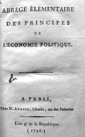 Germain Garnier - Principes de l'economie politique - 1796