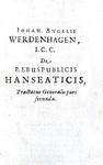 Il commercio nei Paesi Bassi: Werdenhagen - De rebus publicis Hanseaticis - 1630/31 (prima edizione)