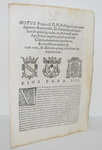 Moto proprio di Pio IV sulla Reverenda Camera Apostolica - Roma, Blado 1565