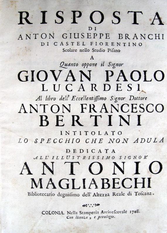 Anton Francesco Bertini - La Giampaolaggine - 1708 (prima edizione)