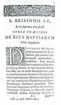 Il diritto nuziale nel '500: Brisson & Hotman -De veteri ritu nuptiarum et jure connubiorum - 1641