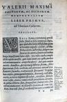 Valerius Maximus - Factorum et dictorum memorabilium - Venetiis 1564