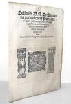 Bolla di Pio IV sulle prerogrative dei nunzi apostolici - Roma, Blado 1565