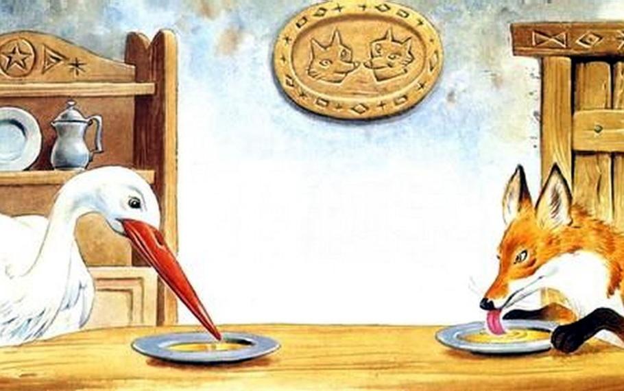 Fedro - La volpe e la cicogna