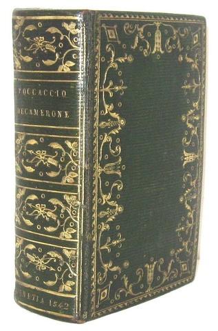 La più bella edizione in formato piccolo del Decamerone - Venezia, Giolito 1542 (magnifica legatura)