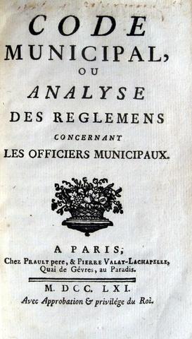 Code municipal - 1761