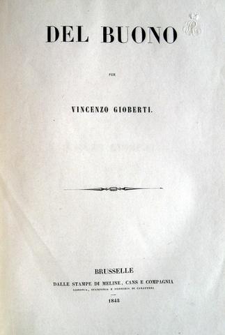 Vincenzo Gioberti - Del buono
