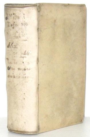John Milton - Pro populo anglicano defensio  (e altre 3 opere) - London 1652/54 (bella legatura)
