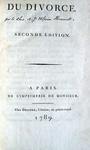 Albert Joseph Ulpien Hennet - Du divorce - 1789