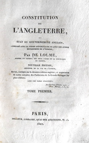 Jean Louis de Lolme