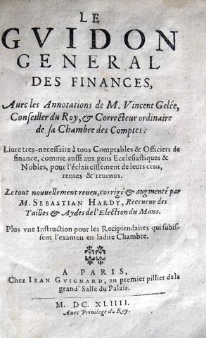 Hennequin - Le guidon general des finances - 1644
