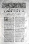 Pierre Rebuffi - Praxis beneficiorum ed. 1664