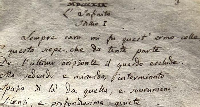 Giacomo Leopardi - L'inclinazione dell'uomo all'infinito