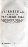 Francesco Redi - Opere - 1778: illustrato da 34 belle tavole