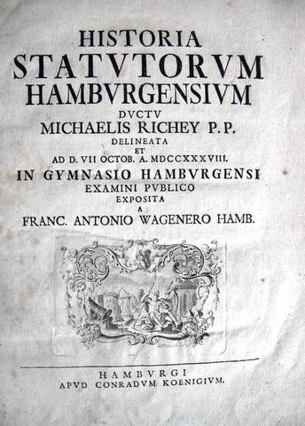 Wagener - Historia statutorum Hamburgensium