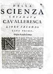 Duello, vendetta e onore: Scipione Maffei - Della scienza chiamata cavalleresca - Trento 1717