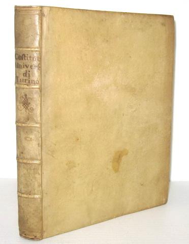 Costituzioni di sua maestà per l'Università di Torino - Accademia Reale 1729 (prima edizione)